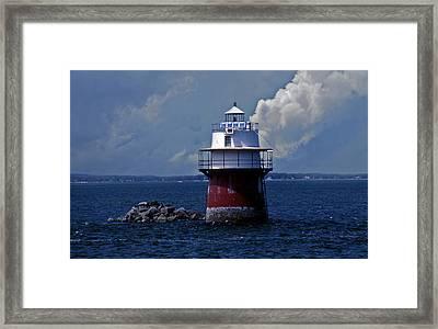 Duxbury Pier Lighthouse Framed Print