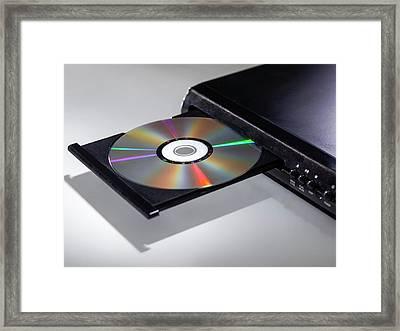 Dvd Player Framed Print