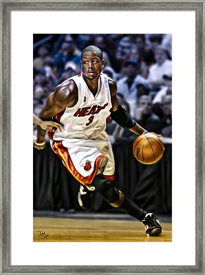 Dwayne Wade Framed Print by Don Olea