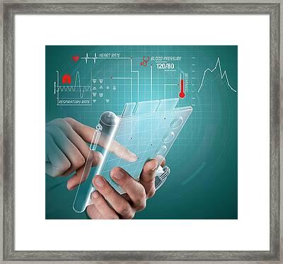 E-medicine Framed Print