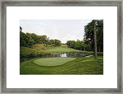Eagle Knoll - Hole Fourteen From The Green Framed Print