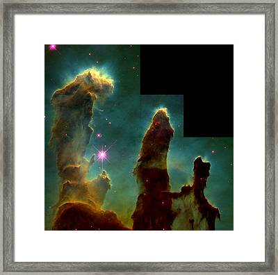 Eagle Nebula, Messier 16 Framed Print by Science Source