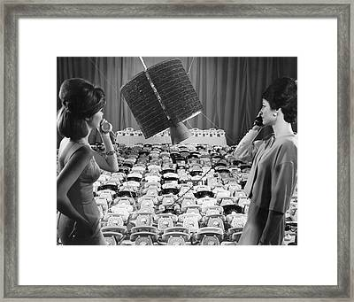 early Bird Satellite System Framed Print by Underwood Archives