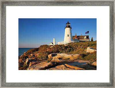 Early Morning At Pemaquid Point Framed Print by Brian Jannsen