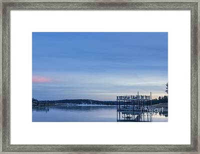 Early Morning At The Lake Framed Print by Michael Waters