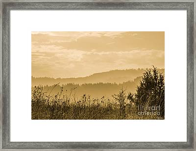 Early Morning Vitosha Mountain View Bulgaria Framed Print