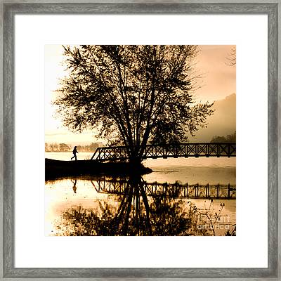 Framed Print featuring the photograph Early Start by Kari Yearous