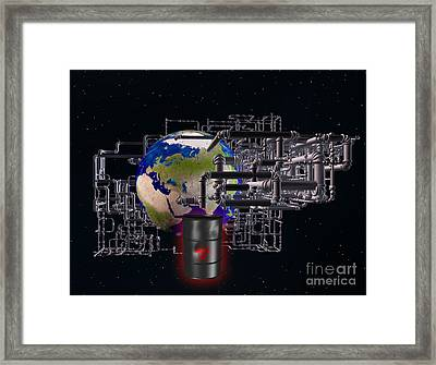 Earth And Pipes Framed Print by Scott Camazine