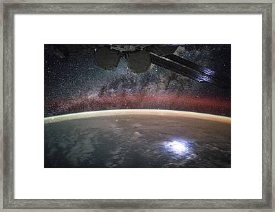 Earth At Night Framed Print by Nasa