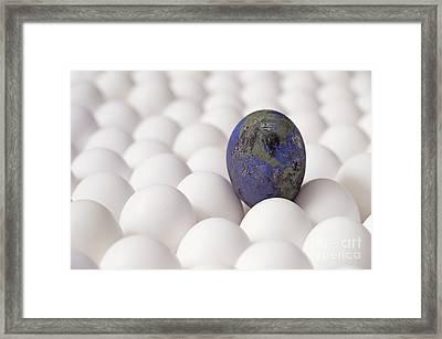 Earth Egg Pollution Framed Print by Jim Corwin