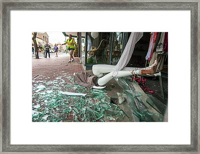 Earthquake Damage Framed Print