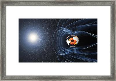 Earths Magnetic Field Framed Print by Science Source