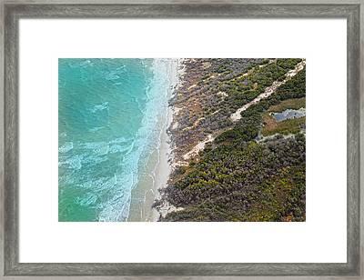 East Coast Aerial Near Jekyll Island Framed Print