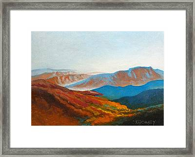 East Fall Blue Ridge Mountains 2 Framed Print by Catherine Twomey