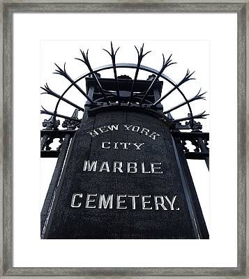 East Village Cemetery Framed Print by Natasha Marco