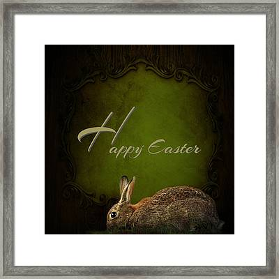 Easter Bunny Framed Print by Heike Hultsch