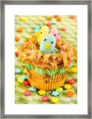 Easter Cupcakes  Framed Print by Iris Richardson