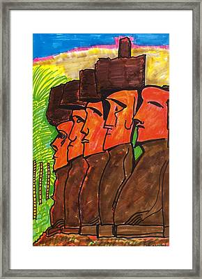 Easter Island Framed Print by Don Koester