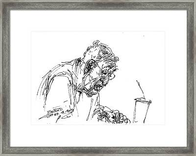 Eater Framed Print by Ylli Haruni