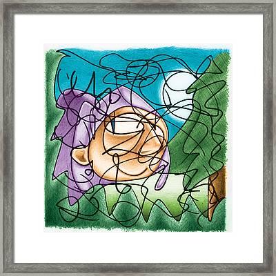 Eavesdropping Framed Print