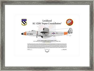 Ec-121h Super Constellation Framed Print by Arthur Eggers