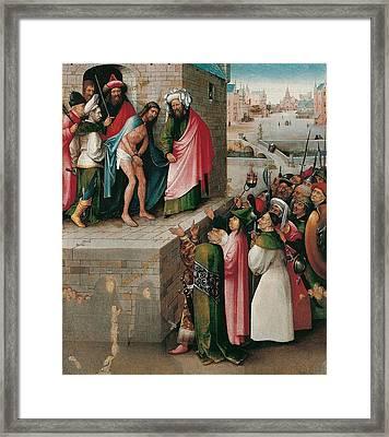 Ecce Homo Framed Print by Hieronymus Bosch