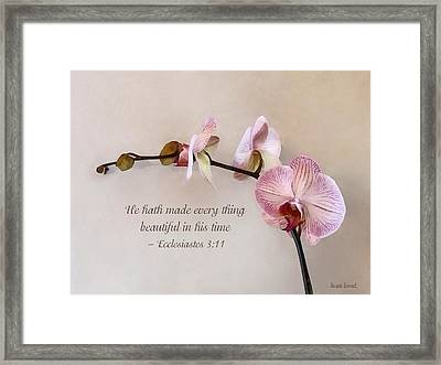 Ecclesiastes 3 11 He Hath Made Everything Beautiful Framed Print