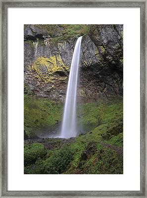 Elowah Falls Oregon Framed Print