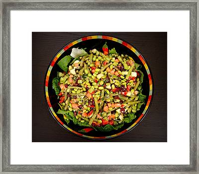 Edamame Salad Framed Print by Science Source