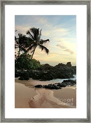 Edge Of The Sea Framed Print by Sharon Mau