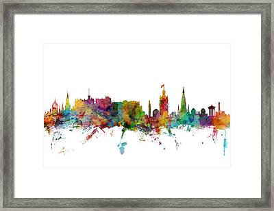 Edinburgh Scotland Skyline Framed Print