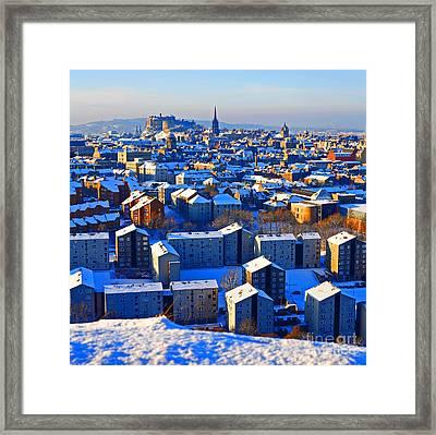 Edinburgh Winter Framed Print by Craig B