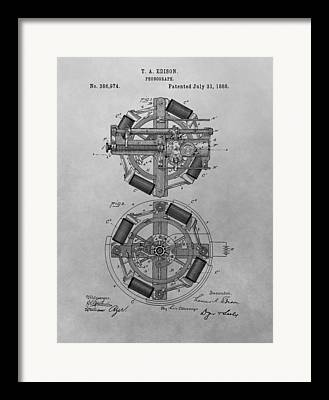 Design Engineering Drawings Framed Prints