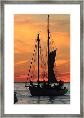 Edith M Becker At Sister Bay Marina Framed Print