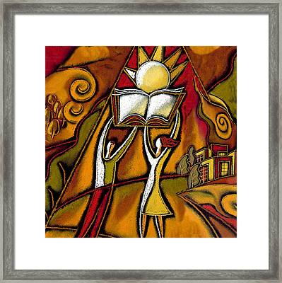 Education Framed Print by Leon Zernitsky