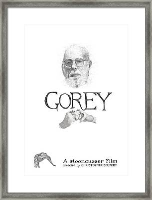 Edward Gorey Documentary Print Framed Print