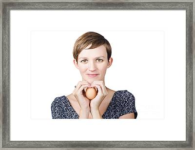 Eggs And Heart Health Framed Print by Jorgo Photography - Wall Art Gallery