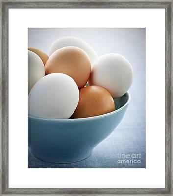 Eggs In Bowl Framed Print by Elena Elisseeva