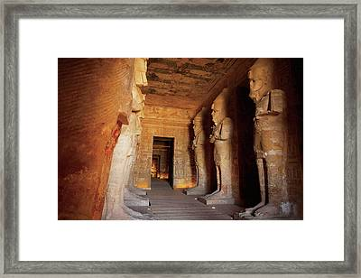 Egypt, Abu Simbel, The Greater Temple Framed Print by Miva Stock