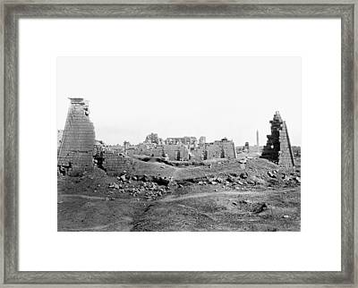 Egypt Karnak Framed Print