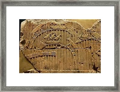 Egyptian Stone Tablet. Framed Print by Mark Williamson