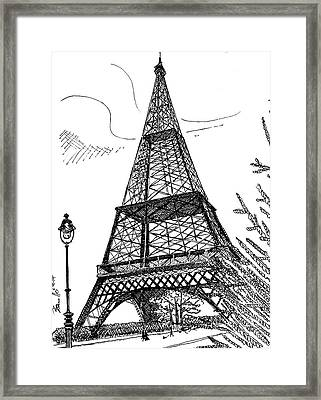Eiffel Framed Print by Andrew Cravello