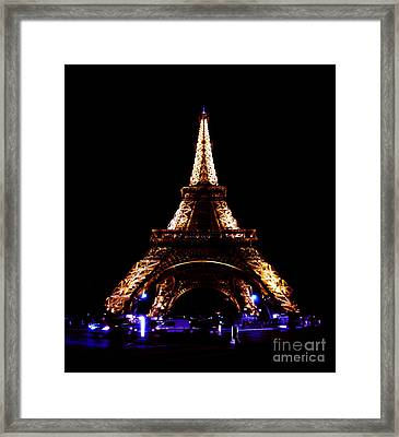 Eiffel Tower At Night Framed Print by Sandy MacNeil