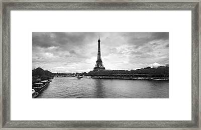 Eiffel Tower From Pont De Bir-hakeim Framed Print by Panoramic Images