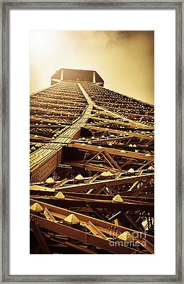 Eiffel Tower Top Framed Print by Patricia Awapara