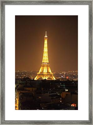 Eiffel Tower - Paris France - 01131 Framed Print by DC Photographer