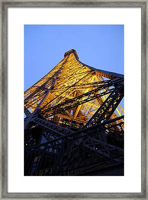 Eiffel Tower - Paris France - 01134 Framed Print by DC Photographer