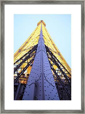 Eiffel Tower - Paris France - 01138 Framed Print