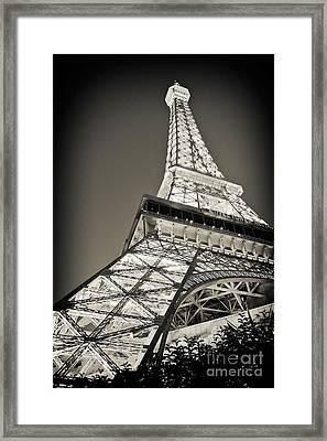 Eiffel Tower Paris Las Vegas Framed Print by Kate McKenna