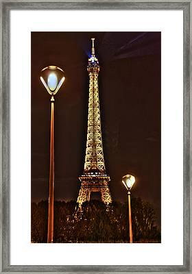 Eiffel Tower Framed Print by Steve Ellenburg